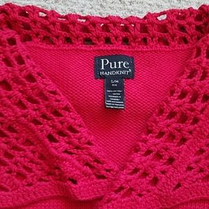 Pure Jackets & Coats - Pure Hand Knit Red Vest